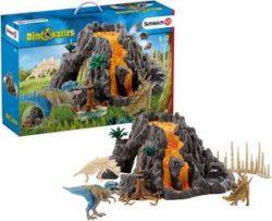 シュライヒ 恐竜 大火山とティラノサウルス恐竜ビッグセット フィギュア