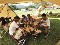 スノーピークのちゃぶ台はキャンプでおすすめ!竹のテーブルはワンアクション