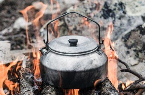 焚き火にトランギア
