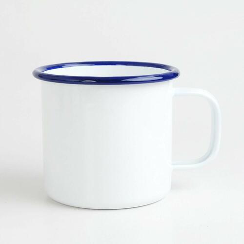 ホーローマグカップ 白