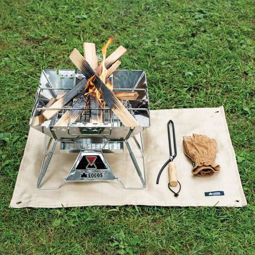 スパッタシートで芝生を焚き火から保護