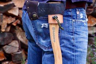 「FIRESIDE製 アックスホルスター」手斧とシースのセット