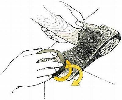 ハスクバーナの手斧の研ぎ方