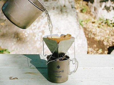 スノーピークでコーヒーを飲む道具