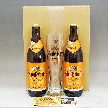 シェッファーホッファーヘフェヴァイツェン500ml×2本+専用グラス+コースター2枚セット