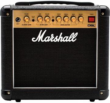 マーシャル 小型のギターアンプコンボ 1W DSL1C
